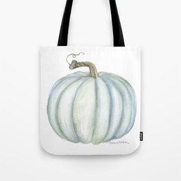 Gray Teal Pumpkin Watercolor Tote Bag