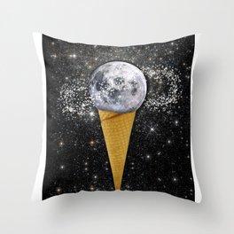 MOON ICE CREAM Throw Pillow
