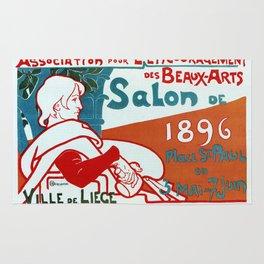 Liège 1896 Art salon Rug