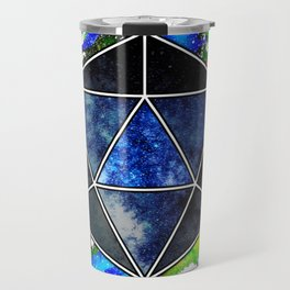 d20 Icosahedron of Imagination Travel Mug