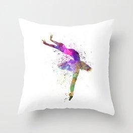 Woman ballerina ballet dancer dancing  Throw Pillow
