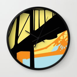 Over-Under Pop Art Bridge Wall Clock