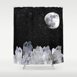 White Moon Shower Curtain