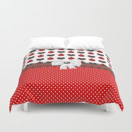 Ladybug and Hearts Duvet Cover