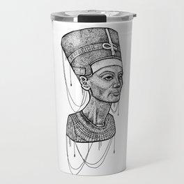 Nefertiti bust dotted Travel Mug