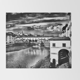 Ponte Vecchio, Florence, Italy Throw Blanket