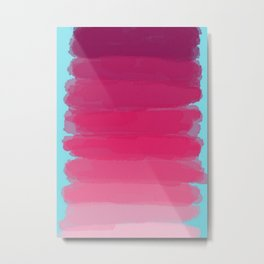 Lipstick: Shades of Pink Gradient Color Study Metal Print