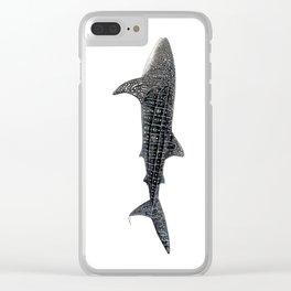 Whale shark Rhincodon typus Clear iPhone Case