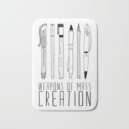 weapons of mass creation Bath Mat