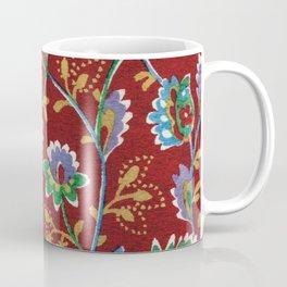 Red Folk Floral Coffee Mug