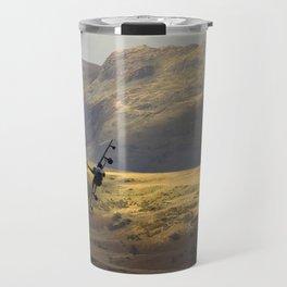 Flying over fields of gold Travel Mug