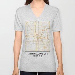MINNEAPOLIS MINNESOTA CITY STREET MAP ART Unisex V-Neck