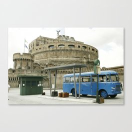 Castel Sant Angelo between past and present in color Canvas Print