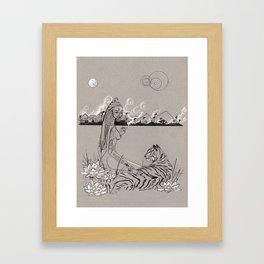 Egyptian Goddess Past Life Framed Art Print