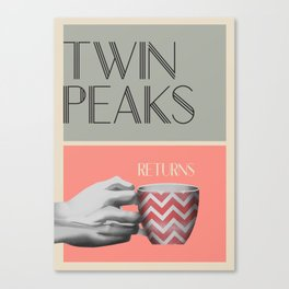 "Set of posters:""TWIN PEAKS"" Canvas Print"