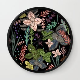 mysterious herbs Wall Clock