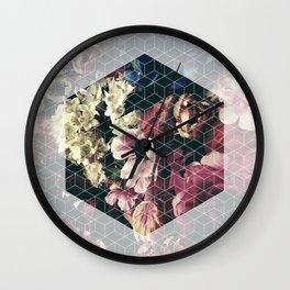Spring Geometry Wall Clock