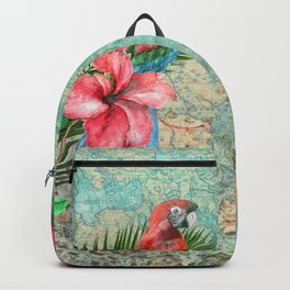 Tropical Map Backpack