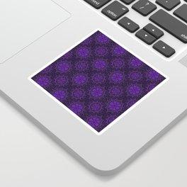 Violet Flower, rustic bohemian floral pattern Sticker