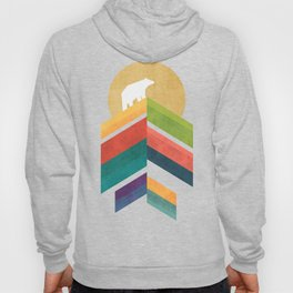 Lingering mountain with golden moon Hoody
