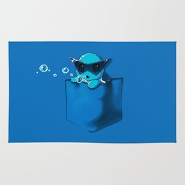 Blowing Bubble Squirtle Rug