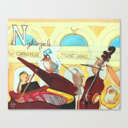N for Nightingale - Alphabet City Canvas Print