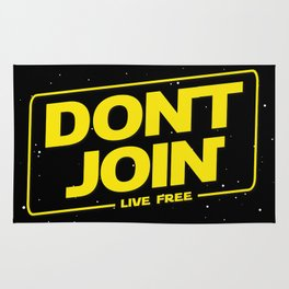 Dont Join DJ The Last Jedi typography Rug