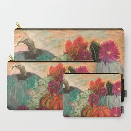 Pumpkins and Flowers Carry-All Pouch
