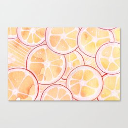Tangerine Ring Party! Canvas Print