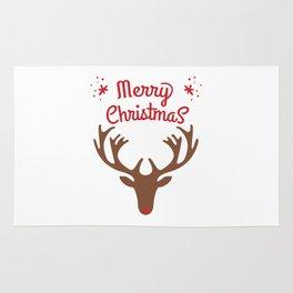 oh deer, merry christmas Rug