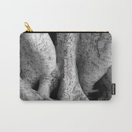 Ficus tree roots with I Am Enough quote Carry-All Pouch