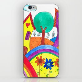 A Happy Town iPhone Skin