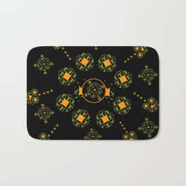 Orange and Green Spaces 115 Bath Mat