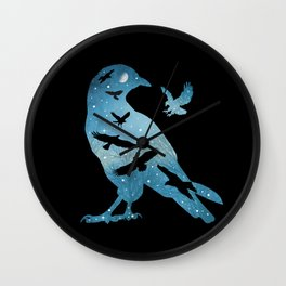 The Night Of The Crows Wall Clock