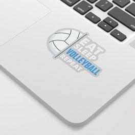 Eat Sleep Volleyball Sport Team Design Sticker