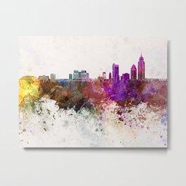 Mobile skyline in watercolor background Metal Print