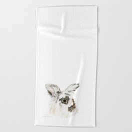 Pixie the Lionhead Rabbit by Teresa Thompson Beach Towel