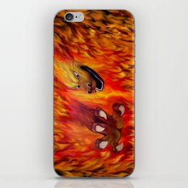 Red Dragon Claw in flames iPhone Skin