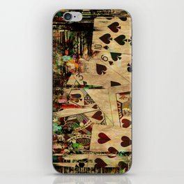Abstract Vintage Playing cards  Digital Art iPhone Skin