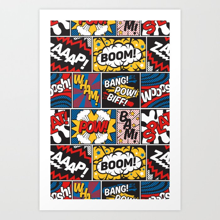 Modern Comic Book Superhero Pattern Color Colour Cartoon ...