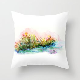 Sunrise Pond Throw Pillow