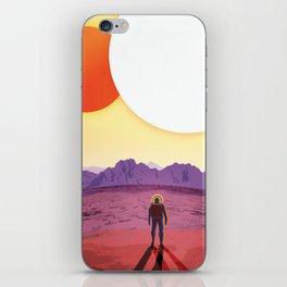 NASA Retro Space Travel Poster #8 Kepler 16b iPhone Skin