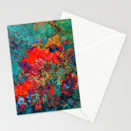 red poppies fantasy Stationery Cards