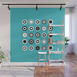Circles Turquoise Wall Mural