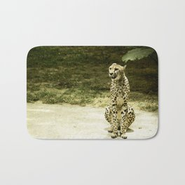 Cheetah in the Sun Bath Mat