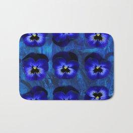 Deep Blue Velvet Bath Mat