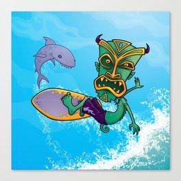 Tiki Surfer Canvas Print