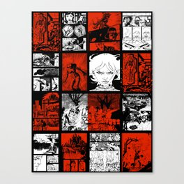 RED & WHITE - A nne Frankenstein Book I - Resurrection Canvas Print