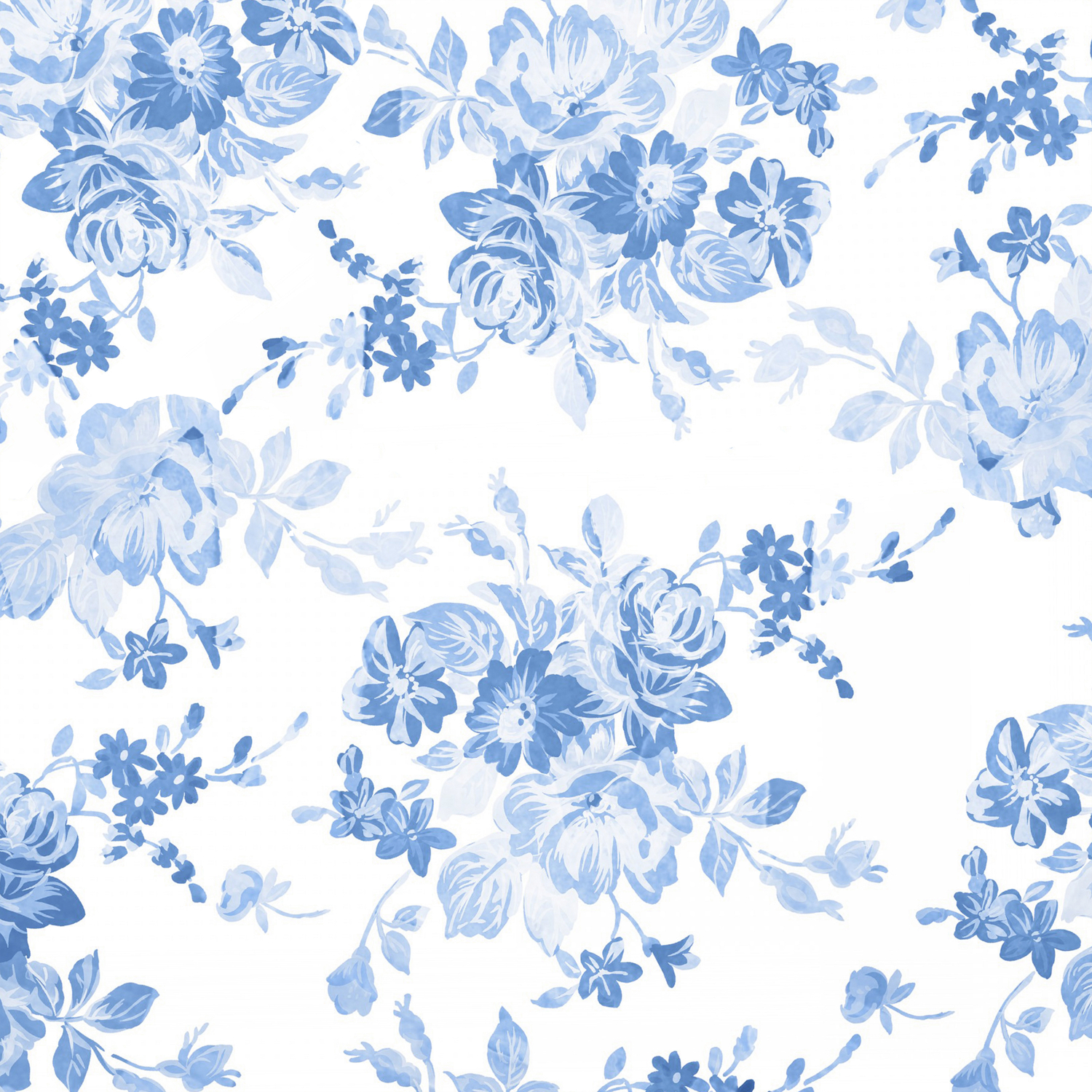 Modern Navy Blue White Watercolor Elegant Floral Comforters By