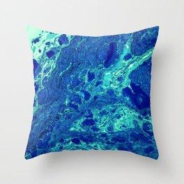 Aqua Texture (Color) Throw Pillow